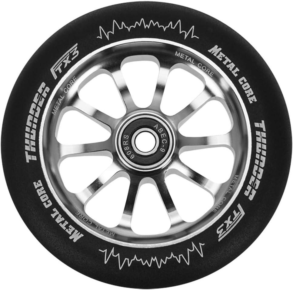 Metal Core Rueda Thunder Black para Scooter Freestyle Di/ámetro 120 mm