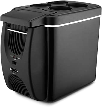 12V Portable Electric Cooler Warmer for Car Truck SUV RV Trailer/Car Refrigerator Personal Mini Fridge 6L