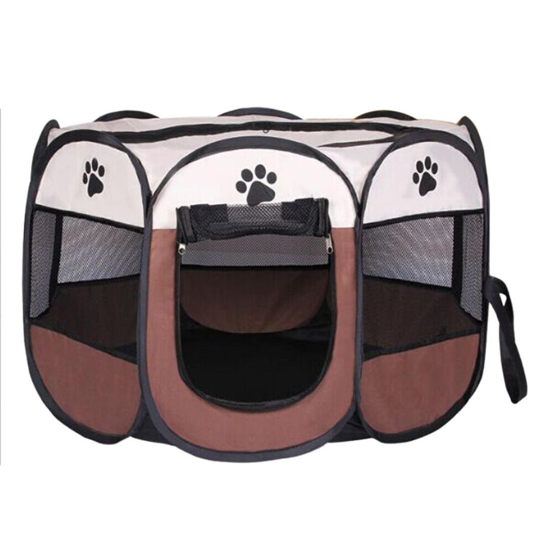Coffee S Coffee S HP95 Dog Tent, (TM) 8 Sides Pet Dog Cat Tent Portable Foldable Outdoor Fence Up Camping Tent (S, Coffee)