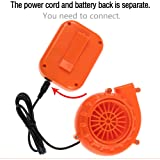 Mini Fan Blower For Doll Mascot Head Inflatable Costume Game Clothing Orange Separate