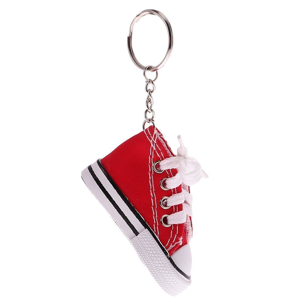 Sky Fish Keychain Canvas Keychain Sneaker Keychain Canvas Shoe Keychain Tennis Shoe Keychain Great for Backpacks and so on red