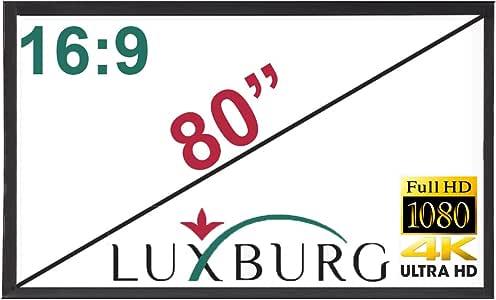 Luxburg - Pantalla de 80 Pulgadas (177 x 100 cm) para proyector 4K ...
