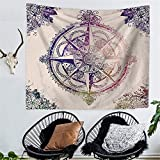 RFVBNM Tapestry/bedspread/Wall ART/Room divider/curtain/tablecloth/College Dorm/Picnic blanket on the beach and throw/Bohemian Mandala Compass Clock pattern nation printing,200150cm