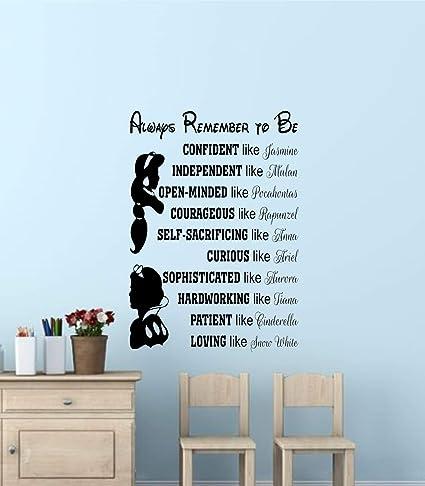 Amazon.com: Best Design Amazing Disney Princess Wall Quotes ...