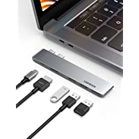 "UGREEN Hub USB C a HDMI 4K, USB C Thunderbolt 3 100W Power Delivery PD Carga, 3 USB 3.0, Modelo Delgado, USB Tipo C Adaptador Hub para MacBook Pro 2019 2018 2017 2016 15"",13"", Macbook Air 2019 2018"