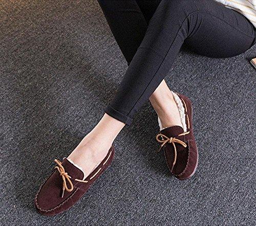 plus DEEPBROWN boots 120W Winter shoes mother snow NSXZ warm Velvet q8wUBx7E