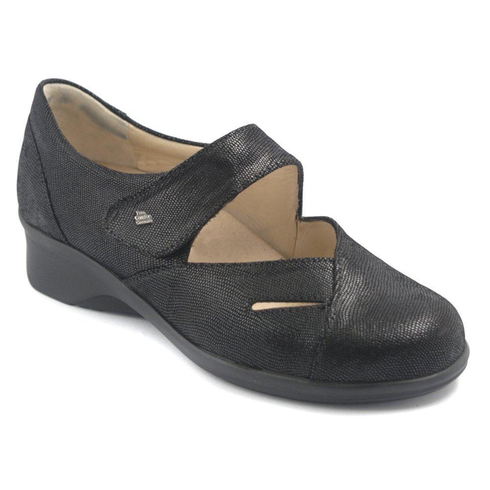 Finn Comfort Women's Aquila,Black Karunga Leather,UK 7.5 M