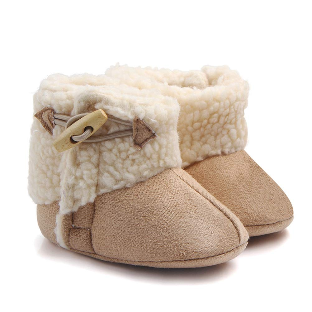 Toddler Baby Girls Boys Newborn Infant Slipper Shoes Warm Soft Plush Fleece Winter Slippers Booties Shoes with Grippers