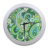 Paisley Vortex Pattern Wall Clock-9.65