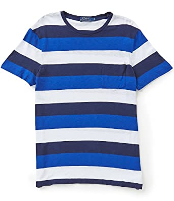 1fbe106bc69 RALPH LAUREN Polo Men s Striped Custom Fit Cotton T-Shirt