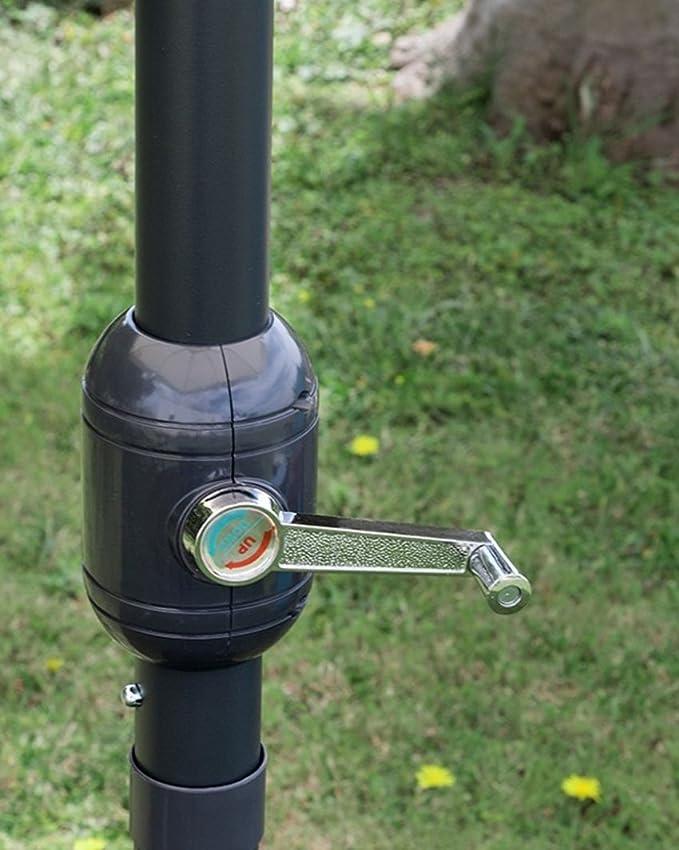Sombrilla Cuadrado 3 x 3 de Aluminio Negro Lienzo Crudo de jardín ...