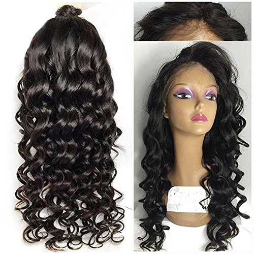 COLODO Loose Wave Curly Black Pelucas Sinteticas Lace Front Heat Resistant Wigs For Black Women Synthetic Hair Wig With Baby (Wigs For Black Women)