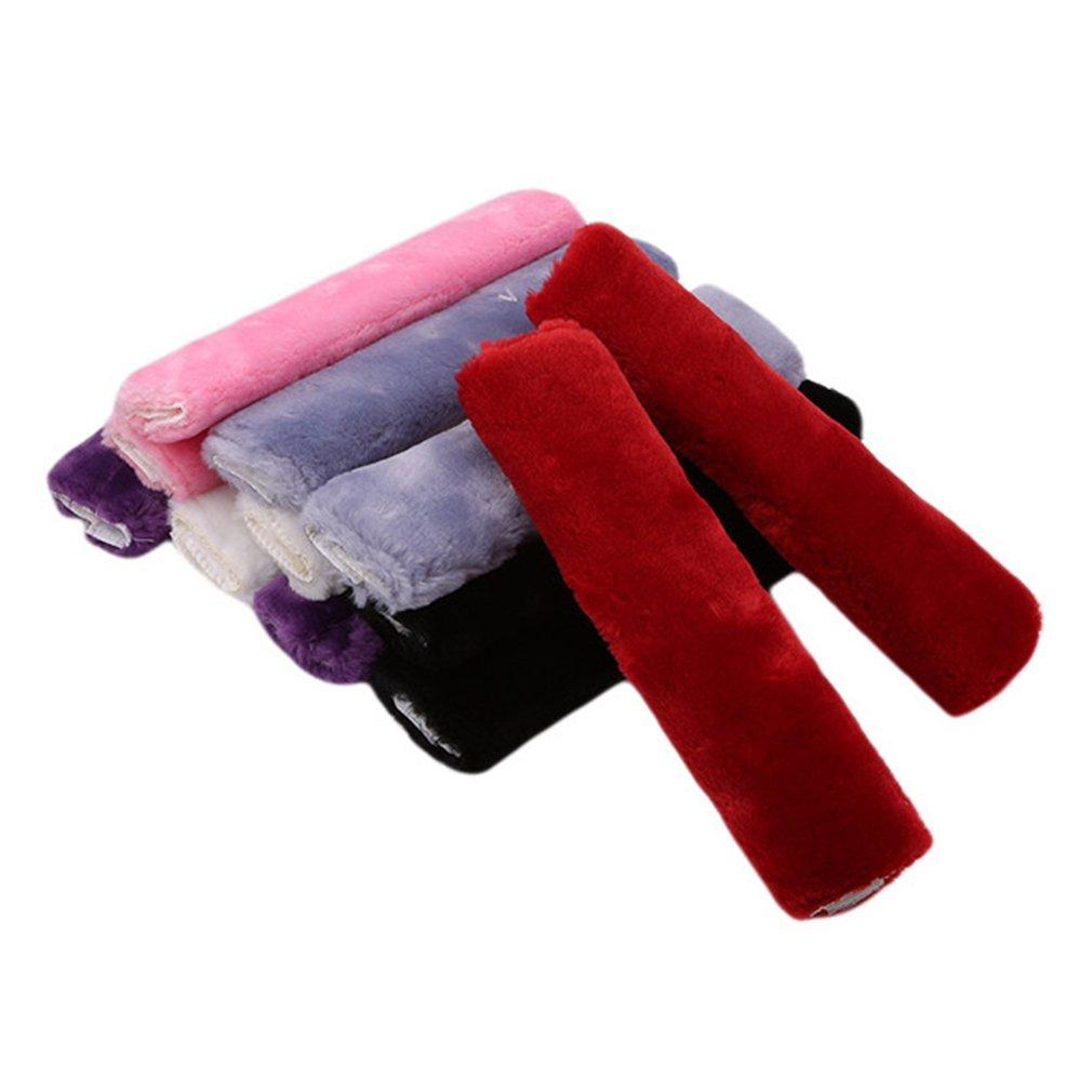 L/_shop Seatbelt Shoulder Pad Comfortable Driving Seat Belt Vehicle Soft Plush Auto Seatbelt Strap Harness Cover,Black,25*10cm