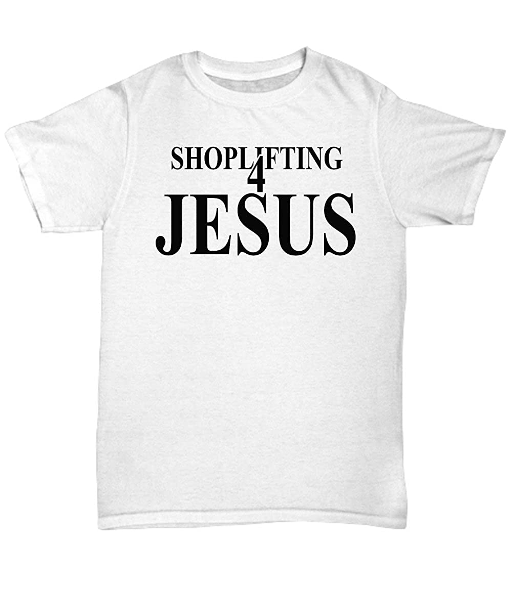 Mmandidesigns Shoplifting 4 Jesus T Shirt Cool White Tee Shirt