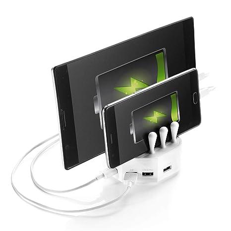 Mr. PluX 4 Compartimento de Carga USB Cargador estación con ...