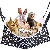「 ペット 用 ハンモック ベッド 」 野生の3色 犬 猫 ハムスター フェレット 小動物 に (S, 白黒チーター)