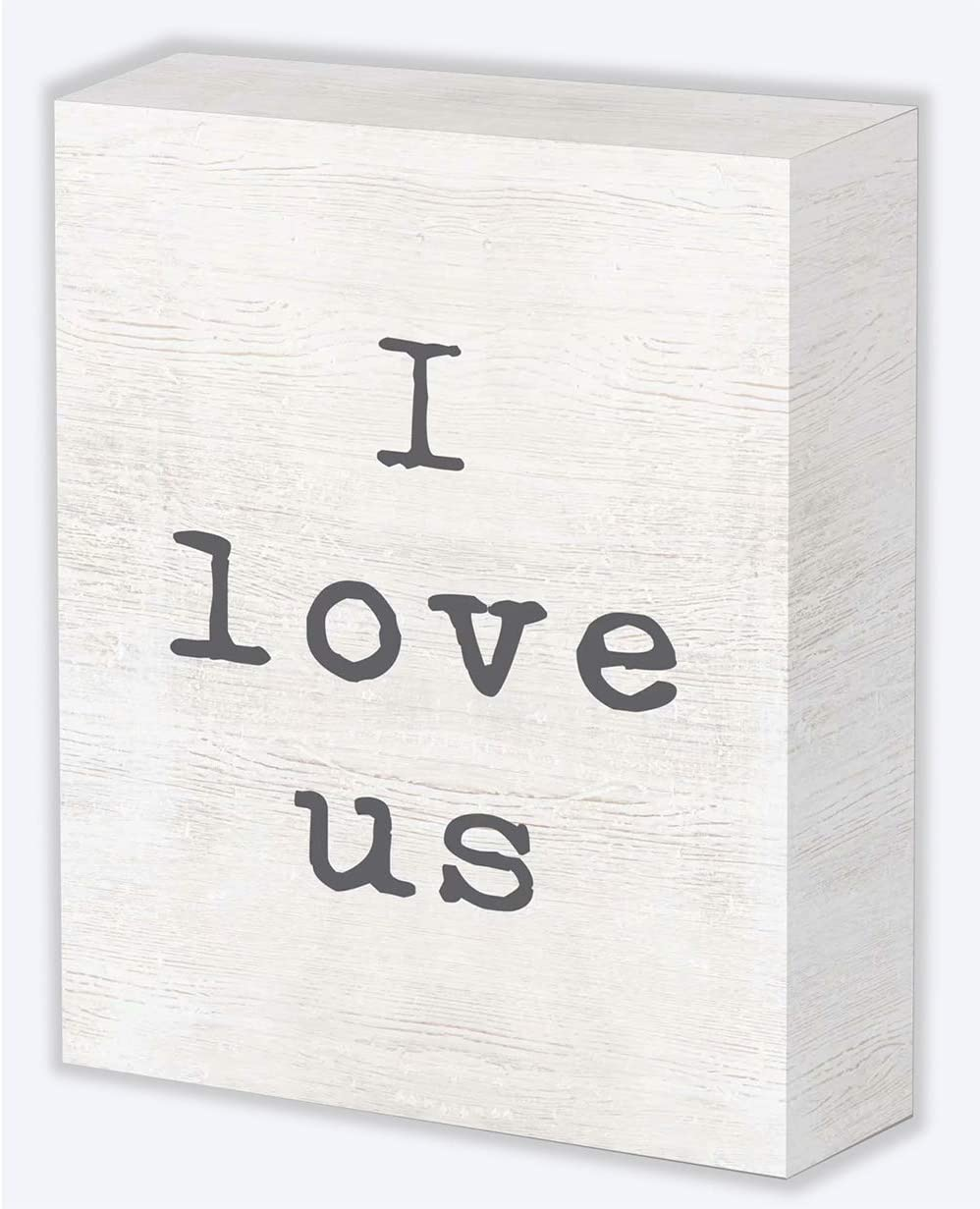 SANY DAYO HOME I Love US 6 x 8 inches Wood Box Wedding Signs Rustic Decor for Home, Office, Wedding, and Ceremony