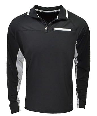 fila quarter zip. fila men\u0027s 1/4 zip pullover athletic shirt, black, quarter p