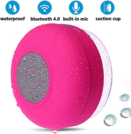 Waterproof Bluetooth Shower Speaker Portable with Built-in Mic Solid Suction Cup