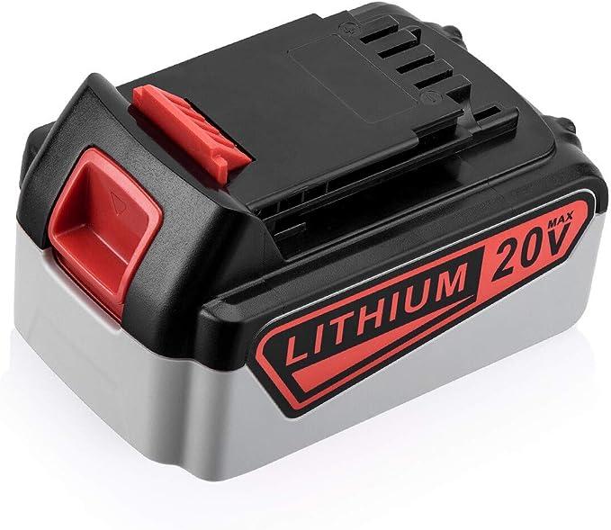Bater/ía de repuesto para bater/ías Black and Decker BL2018 LBXR20 LBXR2020-OPE LBX20 LBX20 LBX20 BL2018-XJ GKC1825L GTC1850L20 VANON LBXR20
