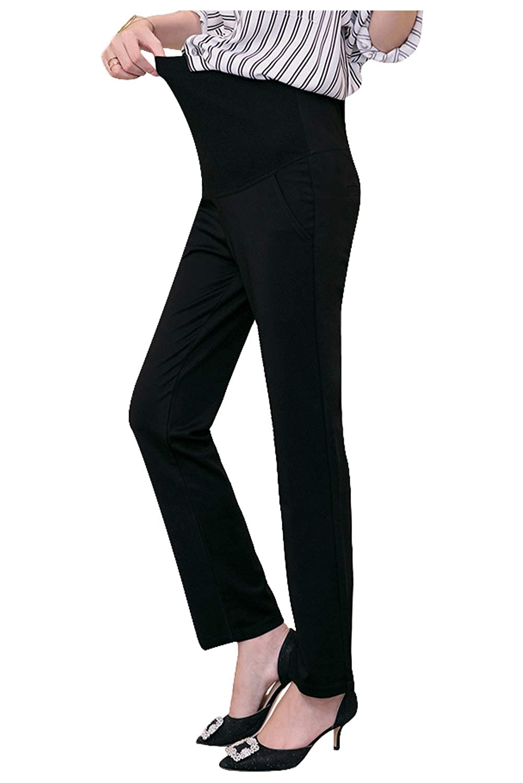 f454ab138139f Funfreeyer Maternity Pants Career Wear Maternity Slacks Pregnancy Trousers  at Amazon Women's Clothing store: