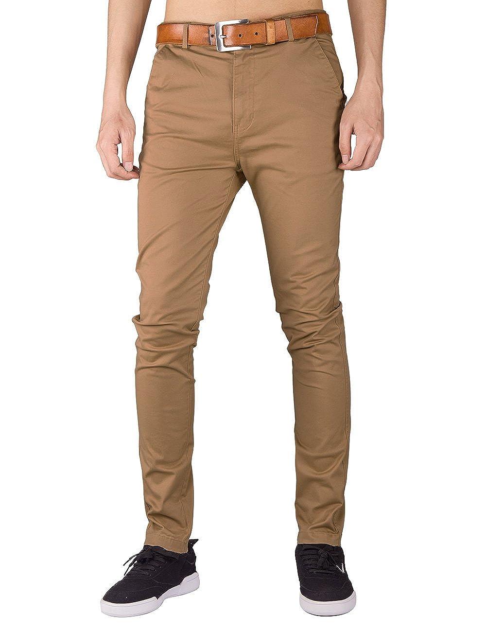 ITALY MORN Hombre Chino Casual Pantalón Algodón Slim Fit 10 Colores