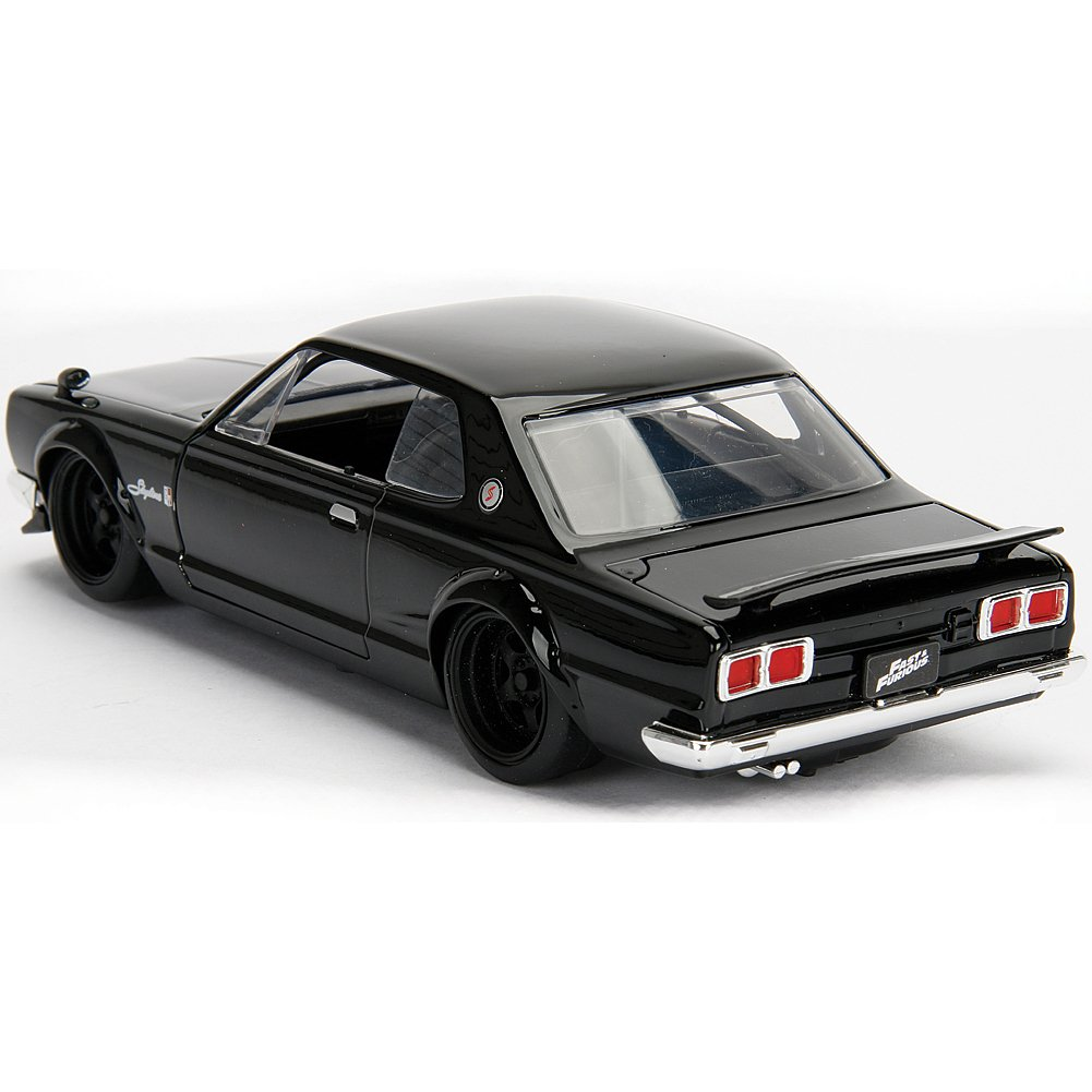 Diecast Vehicle Nixeus Technologies Inc 99686 Fast /& Furious Jada 1: 24 W//B Black Brians Nissan Skyline 2000 GT-R