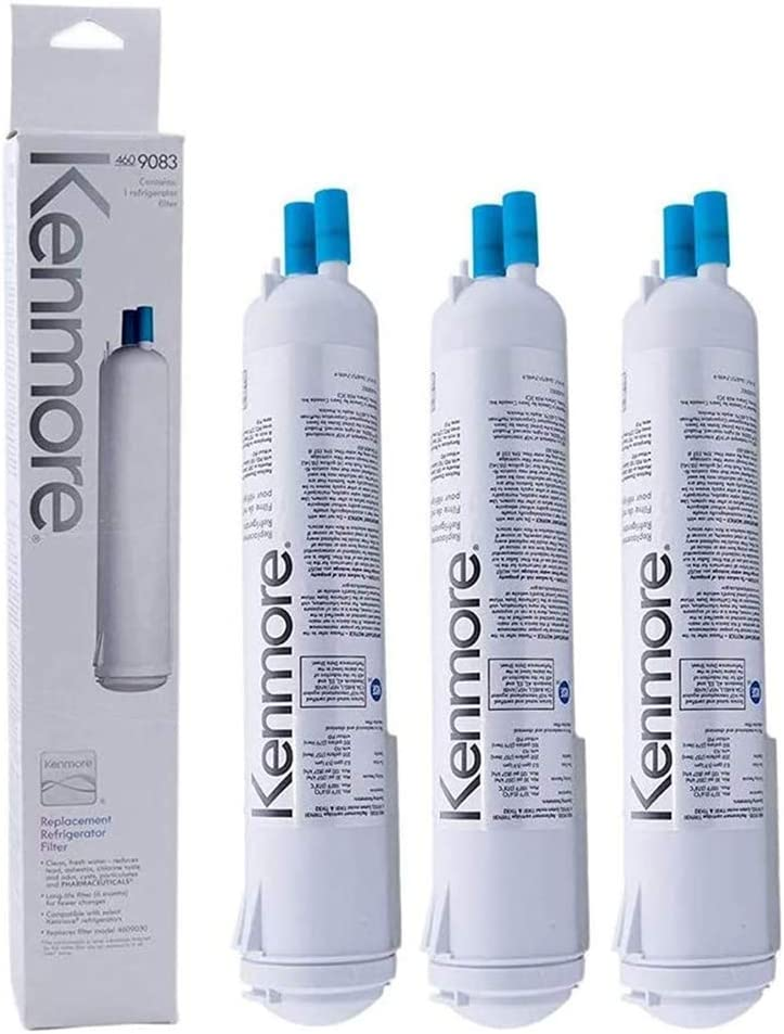 9083 Refrigerator Water Filter Replacement Compatible with Kenmore Water Filter 469083 9030 9020, 3-Pack