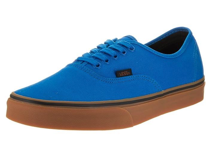 Vans Unisex Shoes Authentic Imperial Blue/Black (Gum) Fashion Skate Sneakers