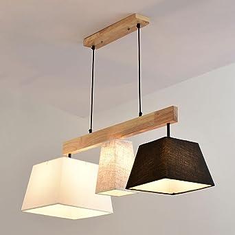 Platz Pendelleuchte Klassisch Stoff Lampenschirm 3 Flammig Gute