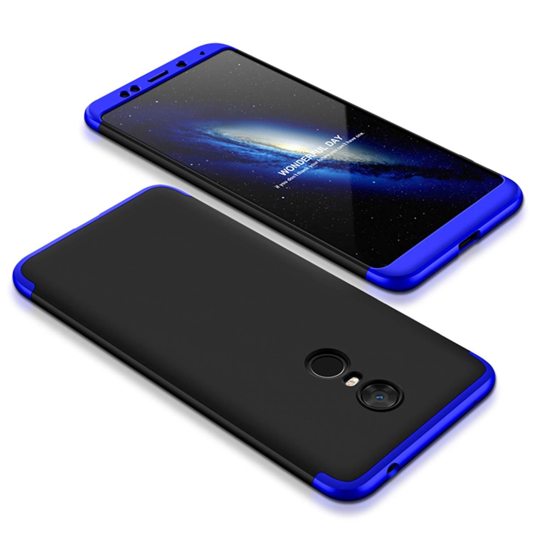 Misstars 3 in 1 Hart PC Hülle für Xiaomi Redmi Note 5 Pro / Note 5, Ultra Dünn Matt Handyhülle 360 Grad Komplettschutz Vorne und Hinten Schutzhülle Anti-Scratch Stoßfest Case für Xiaomi Redmi Note 5 Pro / Note 5 - Silber + Schwarz