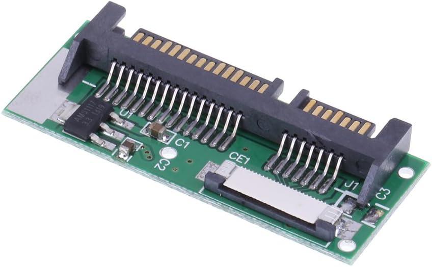 Connectors 1.8inch LIF to 2.5inch SATA 24Pin ZIF to 22Pin SATA Converter Adapter Card 24 PIN SATA LIF Connector PCB Adapter Cable Length Green