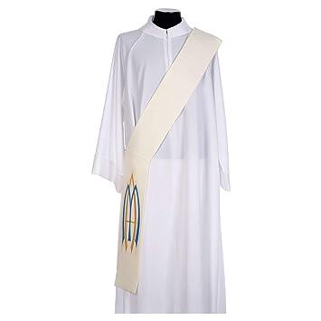 migliore selezione di personalizzate cercare Amazon.com: Diaconal Marian Stole in Polyester, White: Home ...