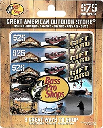 Amazon.com: Bass Pro Shops Gift Cards, Multipack of 3 - $25: Gift ...