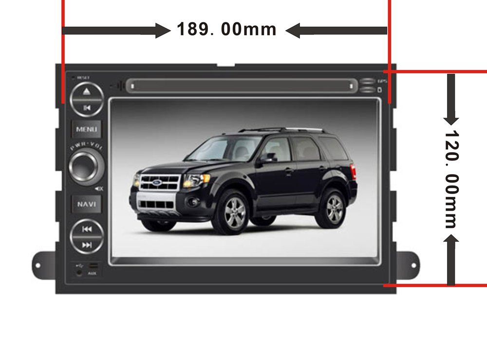 Amazon.com: Car GPS Navigation System for Ford Fusion 2006-2009 / Ford Explorer 2006-2010 / Ford Mustang 2005-2009 / Ford F150 2004-2010/ F250 F350 ...