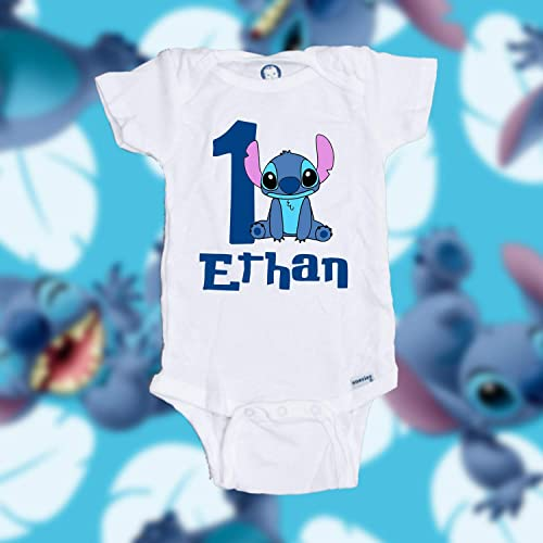 Personalized Customized Stitch Birthday Shirt