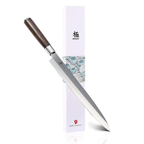 Amazon.com: KYOKU Samurai Series – Cuchillo Yanagiba japonés ...
