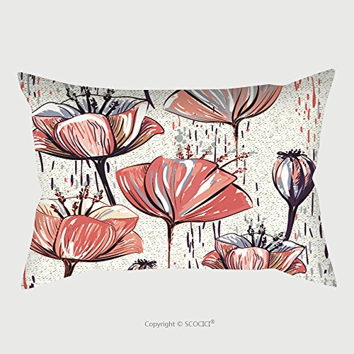 Custom Satin Pillowcase Protector Vector Colorful Tulips On The Texture Background Seamless Pattern Can Be Used For Wallpapers 527722573 Pillow Case Covers Decorative by chaoran