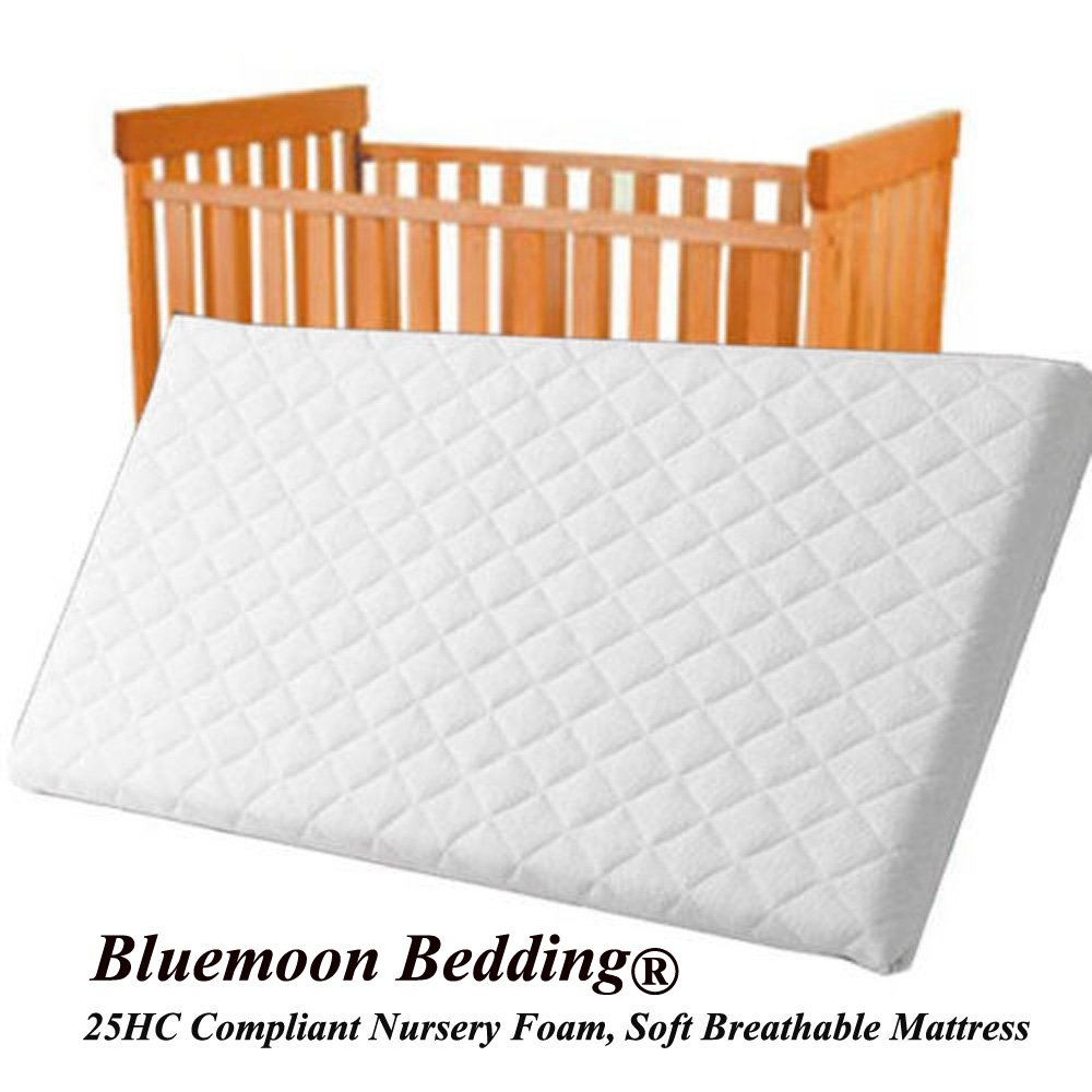 Baby Infant COT Swinging CRIB Foam MATTRESS 74 x 35 x 4 CM Water-Resistant (Square Corners) Bluemoon BM