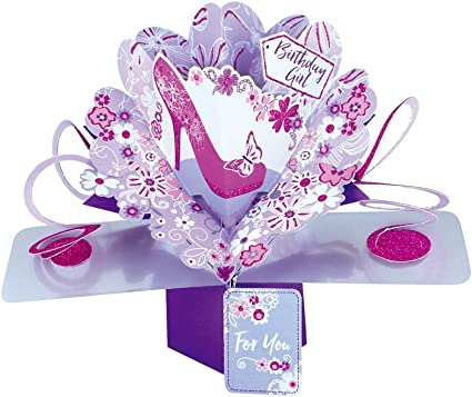 Second Nature pop UPS Flowers biglietto di compleanno con scrittaFor You on your birthday