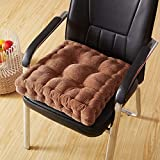 CCYYJJ President For The Office Chairs,Thicken Cushions Square Of Tufted Seat Large Color Wick Uni-Light Tan 45X45Cm(18X18Cm)