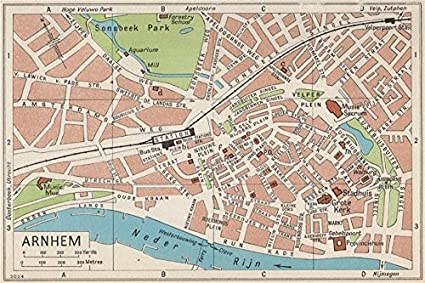 Amazon.com: ARNHEM. Vintage town city map plan. Netherlands - 1961 ...