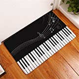 600mm fan - CarPet Piano Mat Notes Pattern Welcome Home Door Floor Mats Waterproof Colored Guitar Beating Rugs Kitchen Home Decor Crafts 1 400mm x 600mm