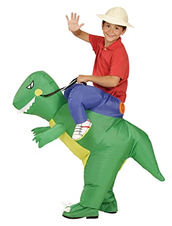 Child Inflatable Ride Dinosaur T-Rex Costume Halloween Party Dress Suit Fancy Costumes for Kids  sc 1 st  Amazon.com & Amazon.com: Child Inflatable Ride Dinosaur T-Rex Costume Halloween ...