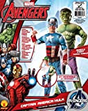 Marvel Avengers 2-In-1 Muscle Chest Hulk/Captain America Deluxe Costume, Small