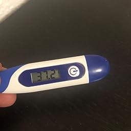 flexibler Messspitze,orale und rektale und axillare Messung Digitales Fieberthermometer mit 1 Nachkommastellen f/ür Baby und Kinder Erwachsene geeignet.