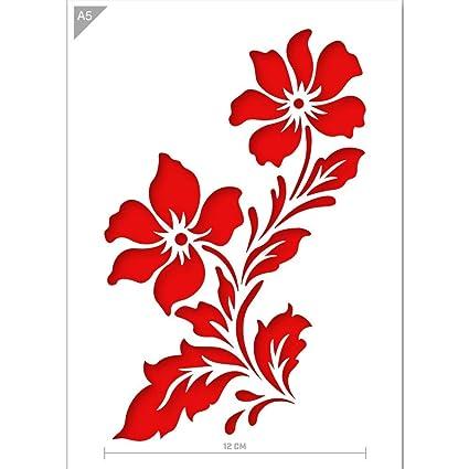 Plantilla de flores - Cartón o plástico - A5 14,8 x 21 cm -
