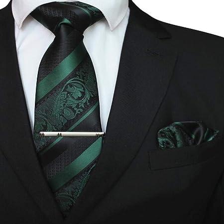 NSLDQ Corbata Conjunto de pañuelo de Corbata Floral para Hombres ...