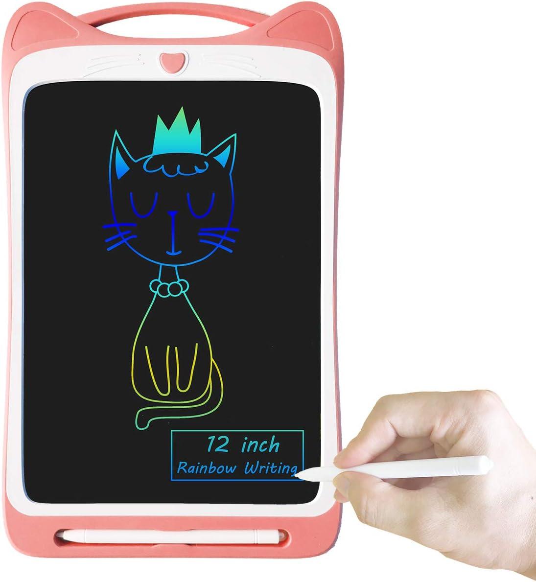 Orimi 12 Pouces Tablette /écritoire LCD Tableau de Graffiti Planche /à Dessin Affichage d/élicat Lignes color/ées, Rose