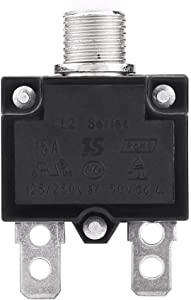 Thermal Overload Protector, AC 125/250V Push Reset Button Circuit Breaker Protector(15A)
